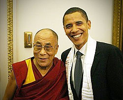 Dalai Lama and Obama