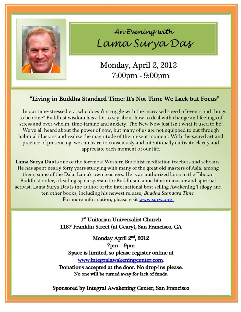 PDF IntegralAwakening SF 4 2 12 791x1024 Lama Surya Das in San Franciso, April 2, 2012
